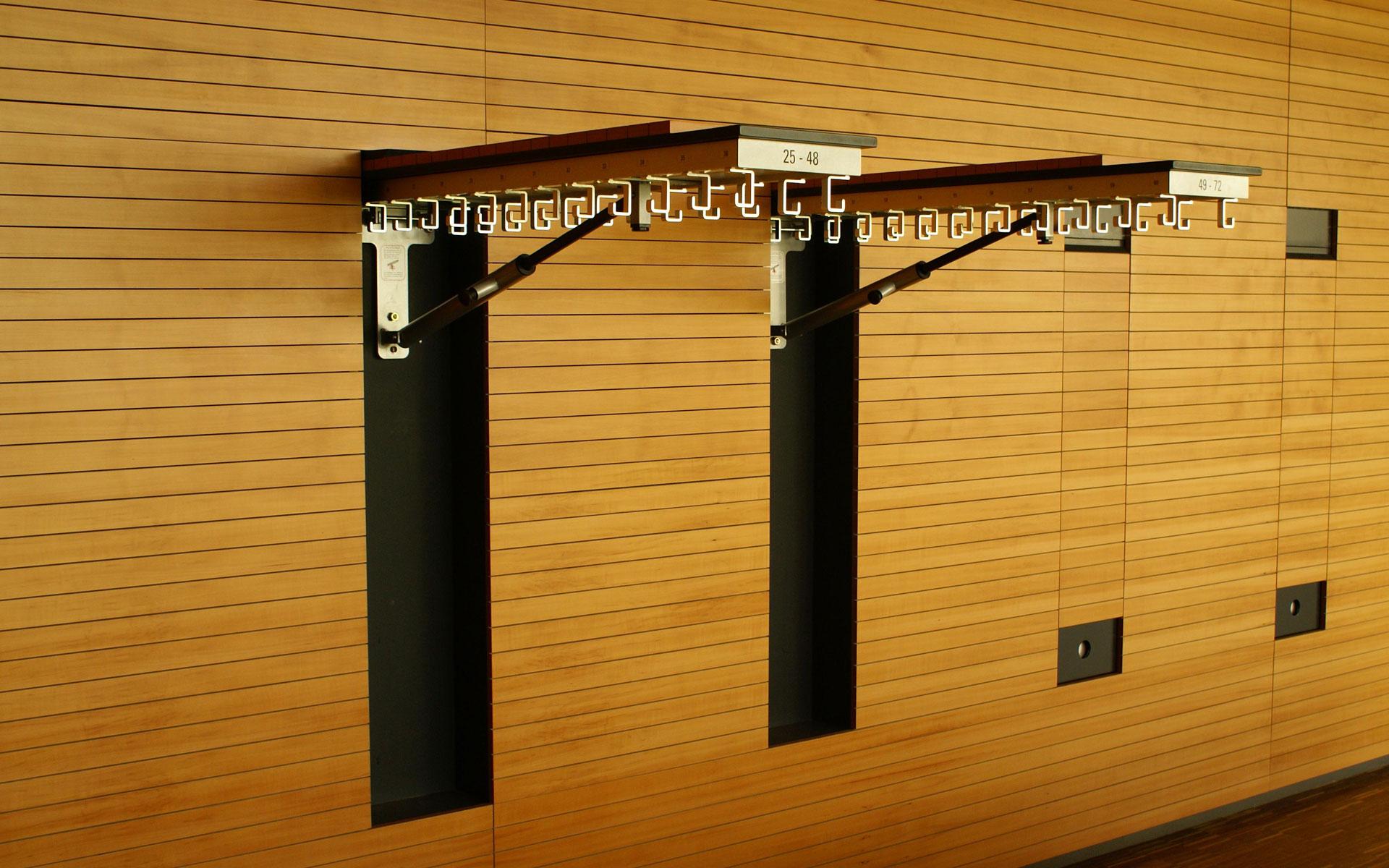 Garderoben integriert